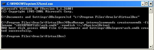 createraw Boot your USB Drive in VirtualBox