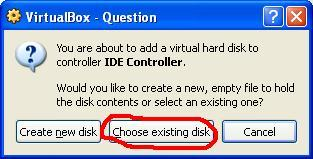 selectharddisk Boot your USB Drive in VirtualBox