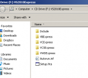 Visual Studio 2010 mounted as Virtual CD Drive with httpdisk